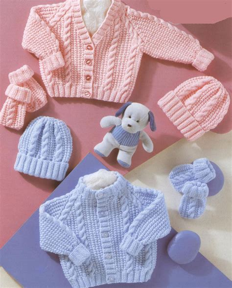 baby hat pattern dk yarn knitting pattern baby cable cardigans hats mitts in dk