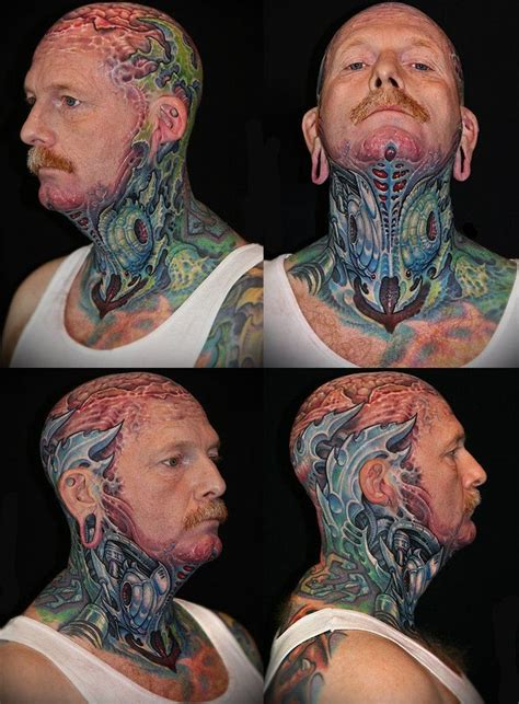 biomechanical neck tattoo 31 best biomechanical tattoo images on pinterest