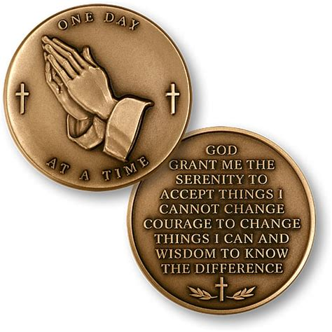 uppp recovery days 1 through 4 timothy s frazier bronze serenity prayer coin gifts of freedom na and aa