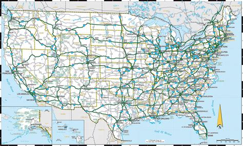 map usa roads maps of the usa the united states of america map