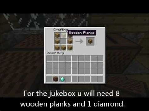 How Do You Make A L In Minecraft by Minecraft How To Make A Noteblock And A Jukebox