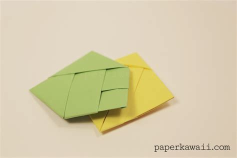 Origami With Small Square Paper - origami square letter fold tutorial paper kawaii
