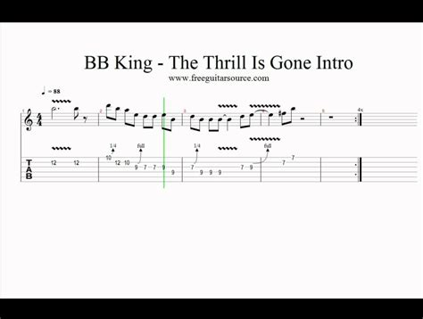 The Thrill Is by Bb King The Thrill Is Intro Guitar Lesson