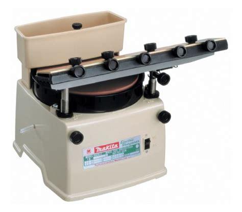 best blade sharpener makita 9820 2 1 1 horizontal wheel blade sharpener