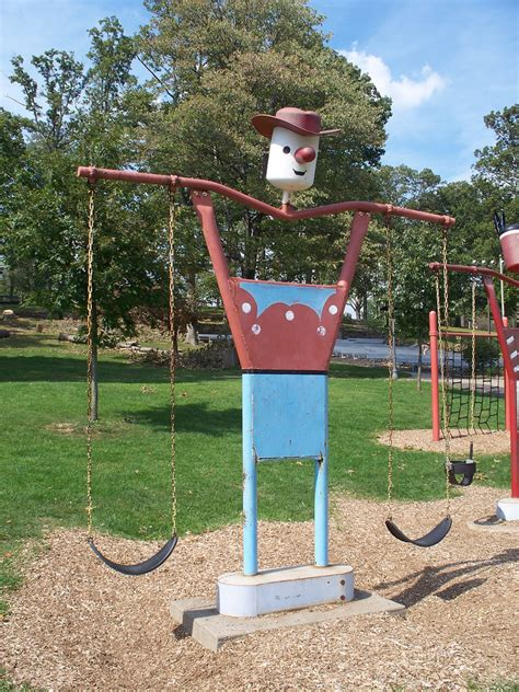 swing set for school playground vintage spring riders the online encyclopedia on vintage
