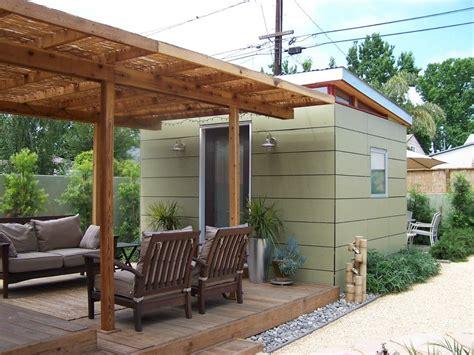 prefab backyard office kit trelis outbuild