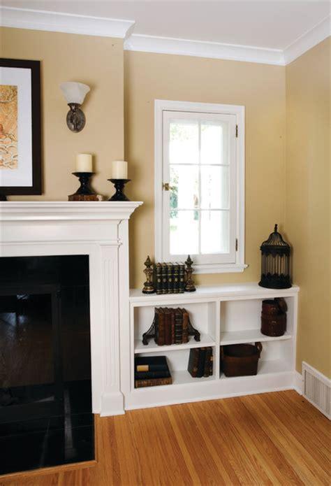 living room fireplace  built ins