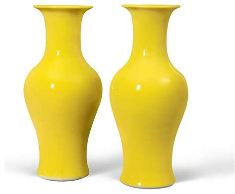 Yellow Vases Uk by Mina Neck Baluster Vase Pair Yellow Yellow