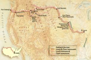 Lewis And Clark Route Map by National Geographic Map Of Lewis Amp Clark Expedition