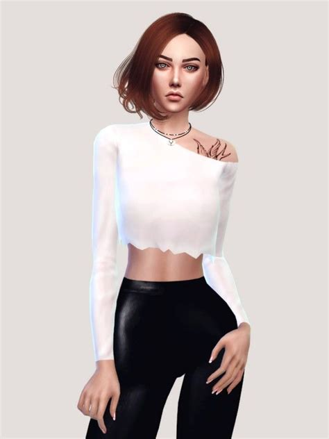 Tshirt Longslave Modiss 176 best images about sims 4 clothing on