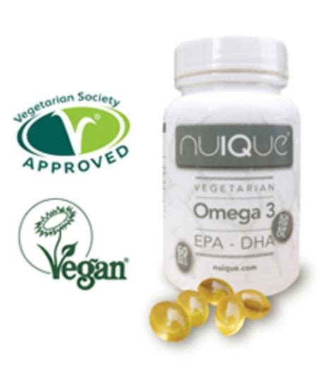 omega 3 supplements vegetarian omega 3 supplement epa and dha in 60capsules from nuique