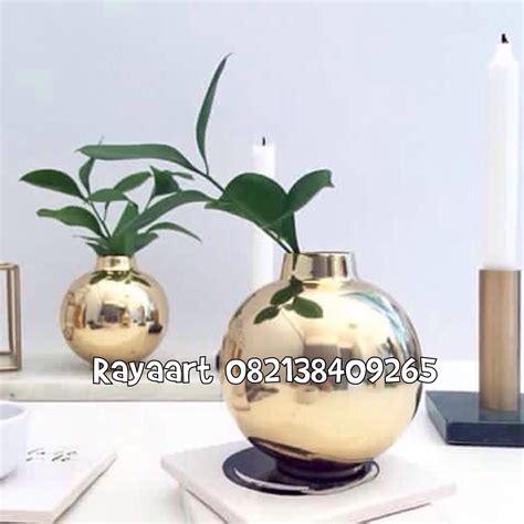 Vas Bunga Keramik Bambu jual kerajinan vas bunga terbuat dari bahan tembaga harga