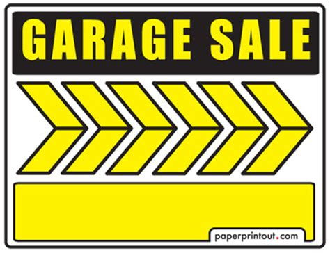 garage sale signs free printable and downloadable