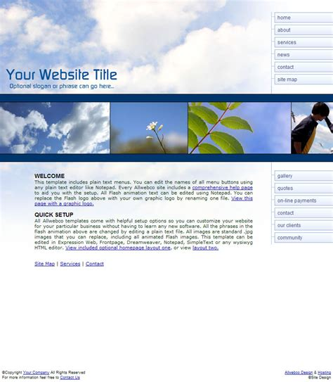 Design Html Template Web Viewer | skyscape business web templates cloud nature theme