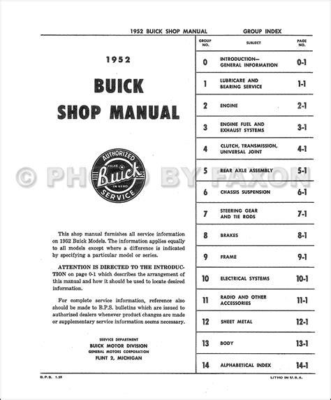 car repair manuals download 1962 buick special lane departure warning 1952 buick repair shop manual reprint special super roadmaster