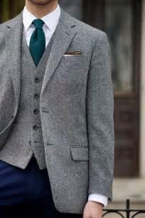 tweed blazer and waistcoat he spoke style