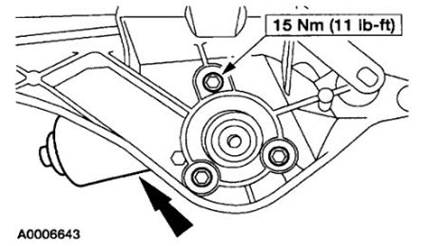 2003 Ford Taurus How To Replace Windsheild Wiper Motor