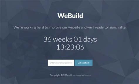 coming soon free html template 50 free coming soon construction html templates
