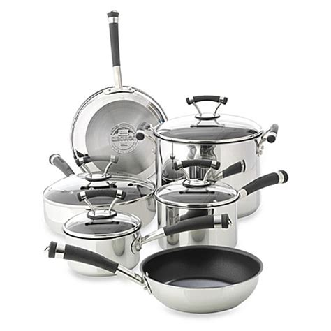 cookware set pots and pans non stick stainless steel 7 circulon 174 contempo stainless steel non stick 10 piece