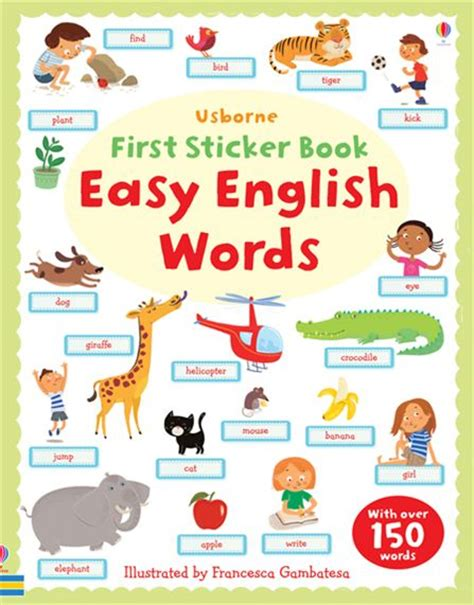 vocabulary picture book sticker book easy words at usborne