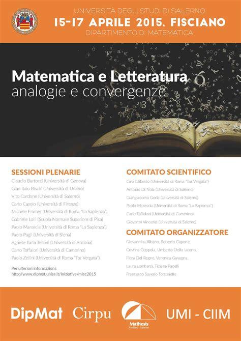 unibo segreteria lettere matematica e letteratura unione matematica italiana