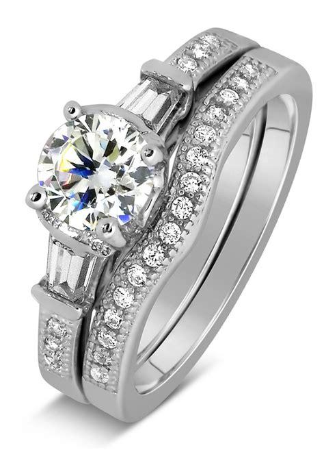 antique 1 carat wedding ring set for in