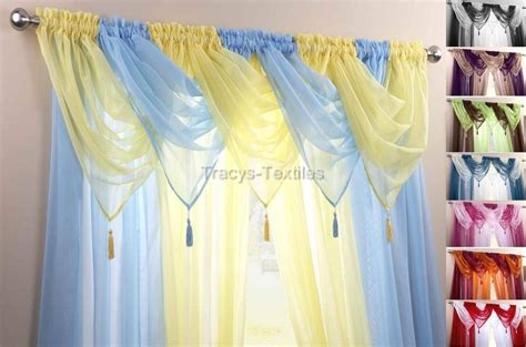 how to make swag curtains voile swag swags tassle decorative net curtain drapes
