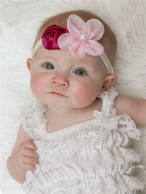 items similar to baby headband newborn headband flower items similar to pink baby headband pink flower headband