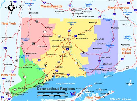 Connecticut Search Map Of Connecticut My