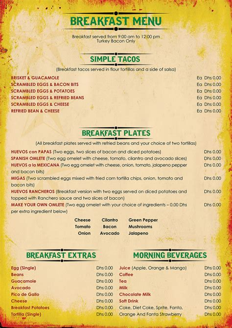 cover layout of american breakfast american breakfast menu sle quotes