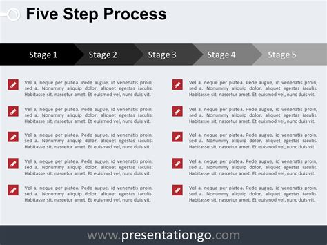 step by step process template free charts and diagrams for powerpoint