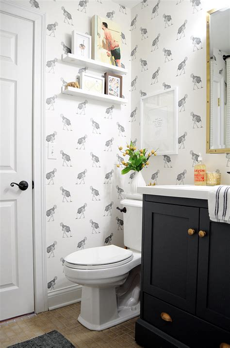 wallpaper   powder room  inspired room bloglovin