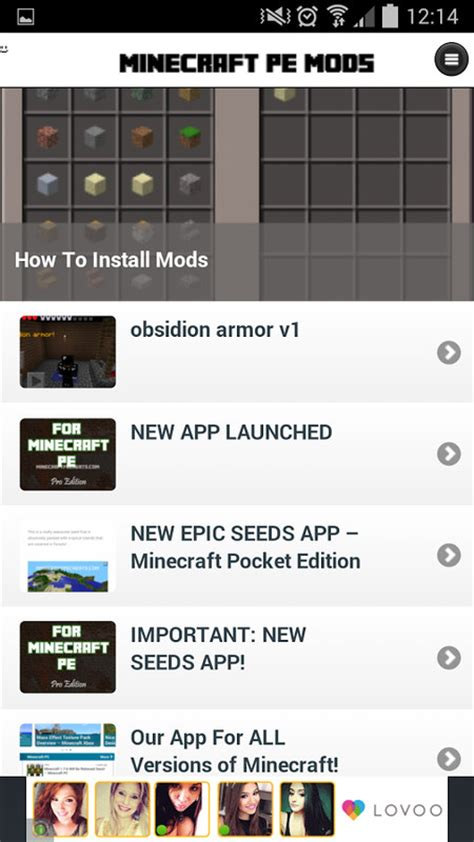 mods for minecraft pe android mods minecraft pe apk free android app appraw