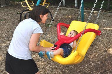 handicap swing local non profit donates handicap accessible swing to