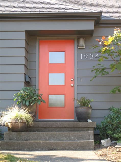 blue house orange door 2017 front door color trends los angeles silver lake blog