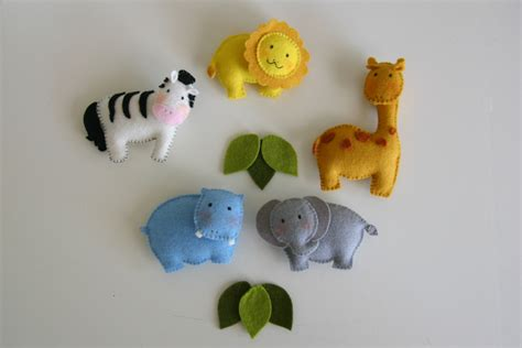 pattern for felt animals pattern felt ornaments 5 animals crib mobile diy wool felt