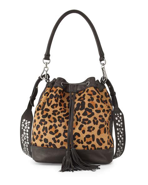 2 In 1 Basic Handbag Leopard Sling Bag C743 Black lyst ash ozzy drawstring bag