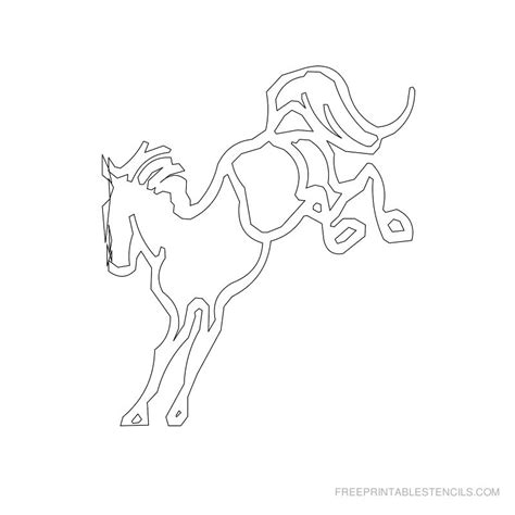 printable stencils of horses printable horse stencils free printable stencils