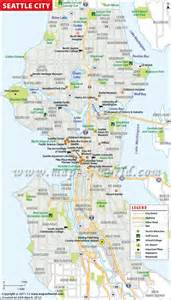 Seattle City Map by Seattle City Map Maps Of World Pinterest