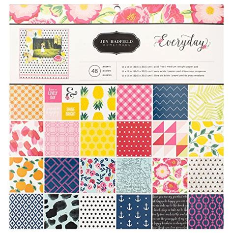 Sale Import Usa Scrapbook Paper 12 X12 American 02 american crafts pebbles jen hadfield everyday 12 x 12 inch 48 import it all
