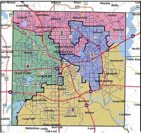 us map of dallas the proposed redistricting map for dallas county that