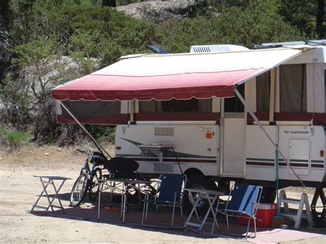 tent trailer awning shademaker supreme tent trailer awning popupbackpacker com