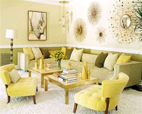 Yellow And Green Living Room Walls Interior Design Center Inspiration