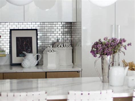 stainless steel backsplash tiles pictures ideas  hgtv hgtv