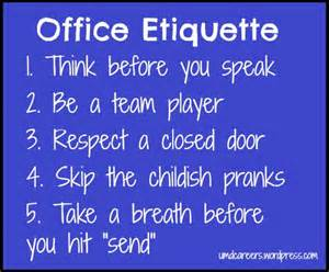 Office Space Etiquette Office Etiquette Part 1 Peer Into Your Career