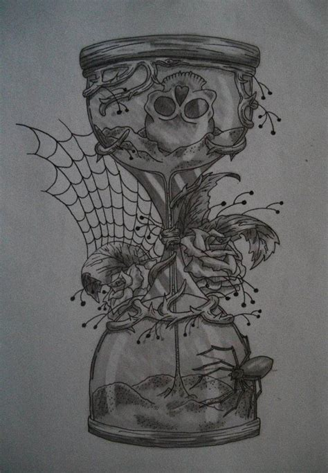 hourglass skull tattoo designs pocketwatch in hour glass drawing hourglass time