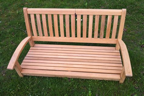 swinging garden bench swinging garden bench roble hardwood swing bench section