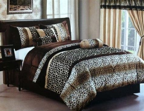 leopard king size comforter set new safari brown leopard giraffe skin print micro fur