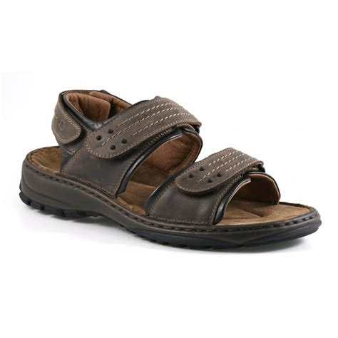 mens sandals with velcro straps josef seibel mens firenze 01 choco moro velcro