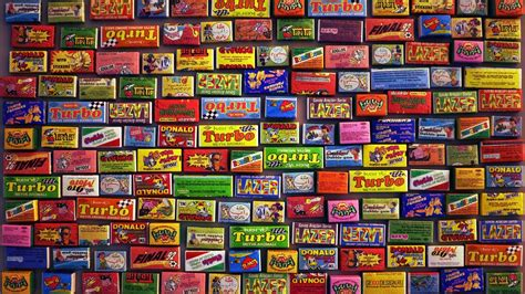 HD Background Chewing Gum Different Brands Types Wallpaper